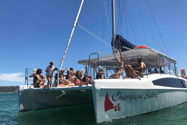 Champ Sailing bow view